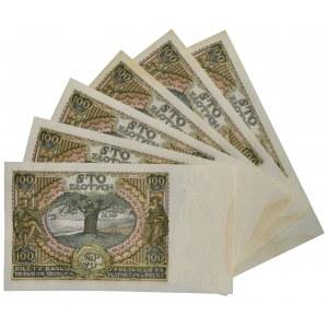 Zestaw 100 złotych 1934 (6 szt.)