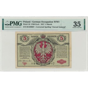 5 marek 1916 Generał biletów - B - PMG 35