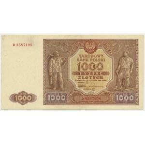 1.000 złotych 1946 - D - niegięty