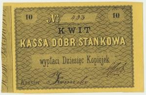 Kassa Dóbr Stankowa 10 kopiejek - signed by Czapski