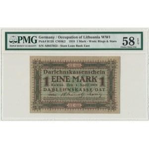 Kowno, 1 mark 1918 - A - PMG 58 EPQ
