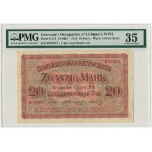 Kowno, 20 mark 1918 - B - PMG 35