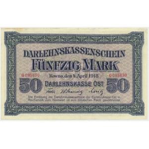 Kowno, 50 mark 1918 - G -