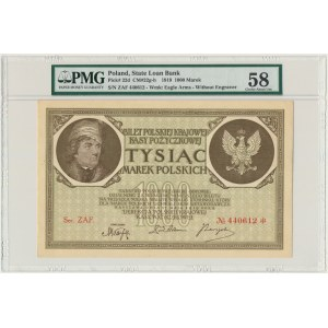 1.000 marek 1919 - Ser. ZAF - PMG 58