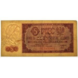 5 złotych 1948 - BL -
