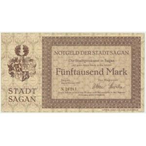 Żagań (Sagan), 5.000 marek 1923