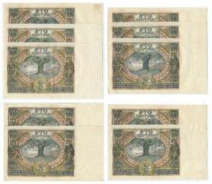 Zestaw banknotów 100 złotych 1934 (10 szt.)