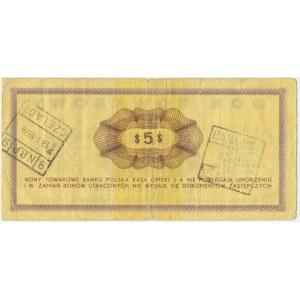 Pewex, 5 dolarów 1969 - Ee - rzadszy wariant