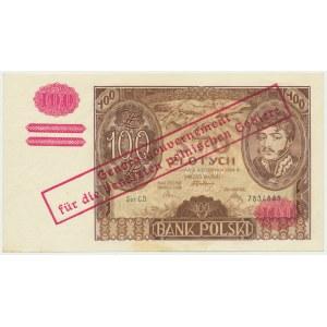 100 złotych 1934 - fałszywy przedruk okupacyjny - ładny