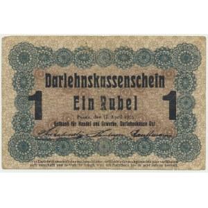 Posen, 1 ruble 1916 - long clause (P3c)