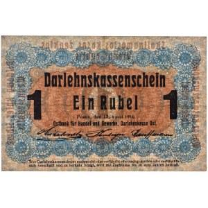 Posen, 1 ruble 1916 - short clause (P3c) -