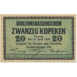 Poznań, 20 kopiejek 1916 - ładny