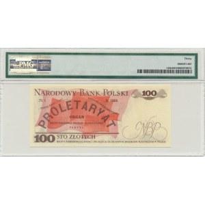 100 złotych 1976 - AD - PMG 30 - bardzo rzadka pierwsza seria