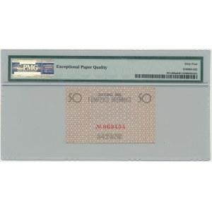 50 pfennig 1940 red numerator - PMG 64 EPQ