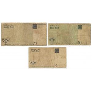 Zestaw, Getto 1-20 marek 1940 (3 szt.) - rzadkie typy