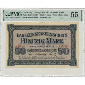 Kowno, 50 mark 1918 - B -