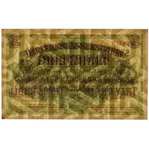 Posen 3 rubles 1916 - B - long clause - PMG 67 EPQ