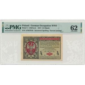 1/2 marki 1916 Jenerał - A - PMG 62