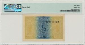 1/2 marki 1916 Generał - PMG 63