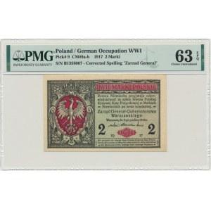 2 marki 1916 Generał - B - PMG 63 EPQ