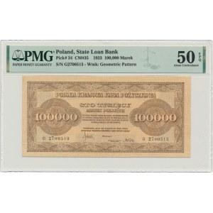 100.000 marek 1923 - G - PMG 50 EPQ