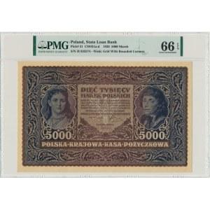 5.000 marek 1920 - III Serja I - PMG 66 EPQ