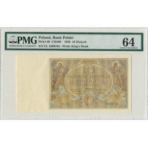 10 złotych 1929 - Ser.EŁ - PMG 64
