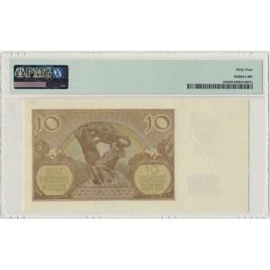 10 złotych 1940 - A - PMG 64 - rzadka pierwsza seria