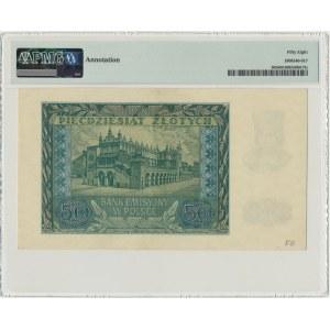 50 złotych 1940 - B - PMG 58