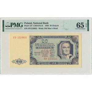 20 złotych 1948 - FP - PMG 65 EPQ