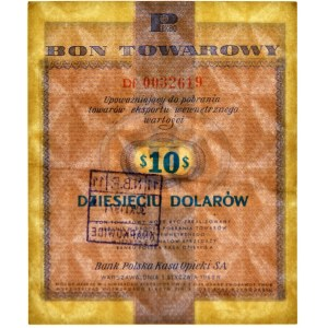 Pewex, 10 dolarów 1960 - Df - z klauzulą - PMG 55