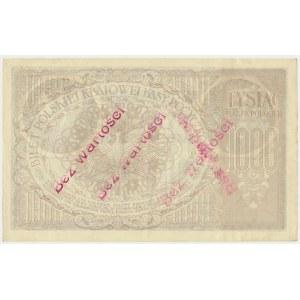 1.000 marek 1919 - III Ser. A - ze stemplem bez wartości