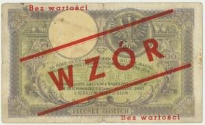 500 złotych 1919 - z późniejszym nadrukiem WZÓR -