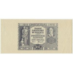 20 złotych 1940 - bez numeratora -