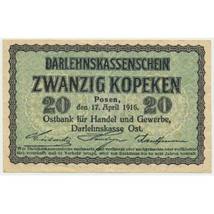 Posen, 20 kopecks 1916