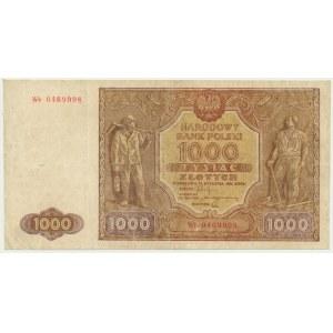 1.000 złotych 1946 - Wb z usuniętą kropką