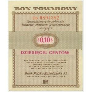 Pewex 10 centów 1960 - Db - z klauzulą - bardzo ładny