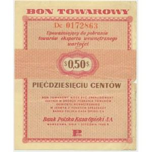 Pewex, 50 centów 1960 - Dc - z klauzulą -