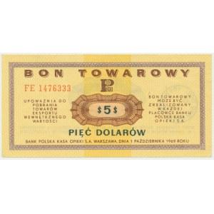 Pewex, 5 dolarów 1969 - FE -