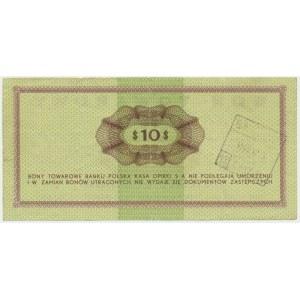 Pewex, 10 dolarów 1969 - Ef -