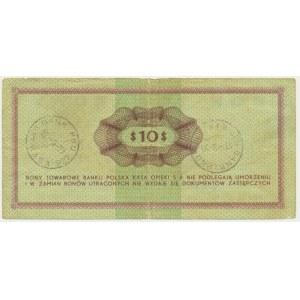 Pewex, 10 dolarów 1969 - GF -
