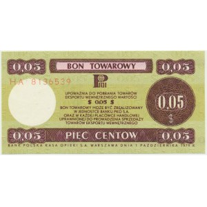 Pewex, 5 centów 1979 - HA - mały -