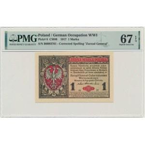 1 marka 1916 Generał - B - PMG 67 EPQ