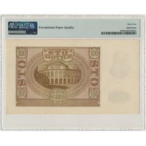 100 złotych 1940 - B - PMG 64 EPQ - ORYGINALNA SERIA - RZADKA