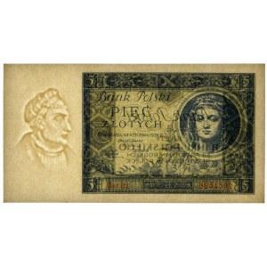 5 złotych 1930 - Ser. BJ. - PMG 65 EPQ