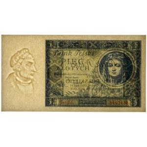 5 złotych 1930 - Ser. BJ. - PMG 64