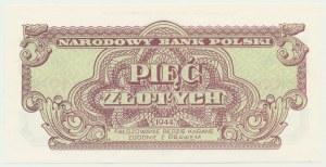 5 złotych 1944 ...owe - aE 518823 - emisja pamiątkowa
