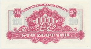 100 złotych 1944 ...owe - Ax 778093 - emisja pamiątkowa