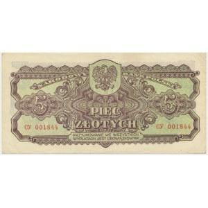 5 złotych 1944 ...owym - Cy -
