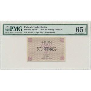 50 pfennig 1940 red numerator - PMG 65 EPQ
